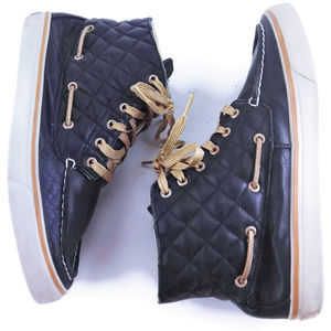 SPERRY Blue and Gold Top Sider High Top Shoes